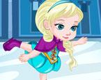Baby Elsa Schlittschuhunfall
