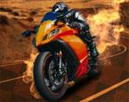 Motorrennen in der Stadt