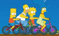 Simpsons Bike Race