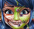 Tupfen-Mädchen: Halloween-Make-up