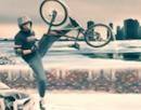 Winter BMX Stau