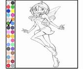 Winx Kleurplaat 1